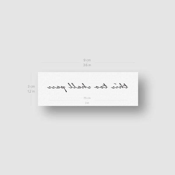 This Too Shall Pass Temporary Tattoo - Set of 3