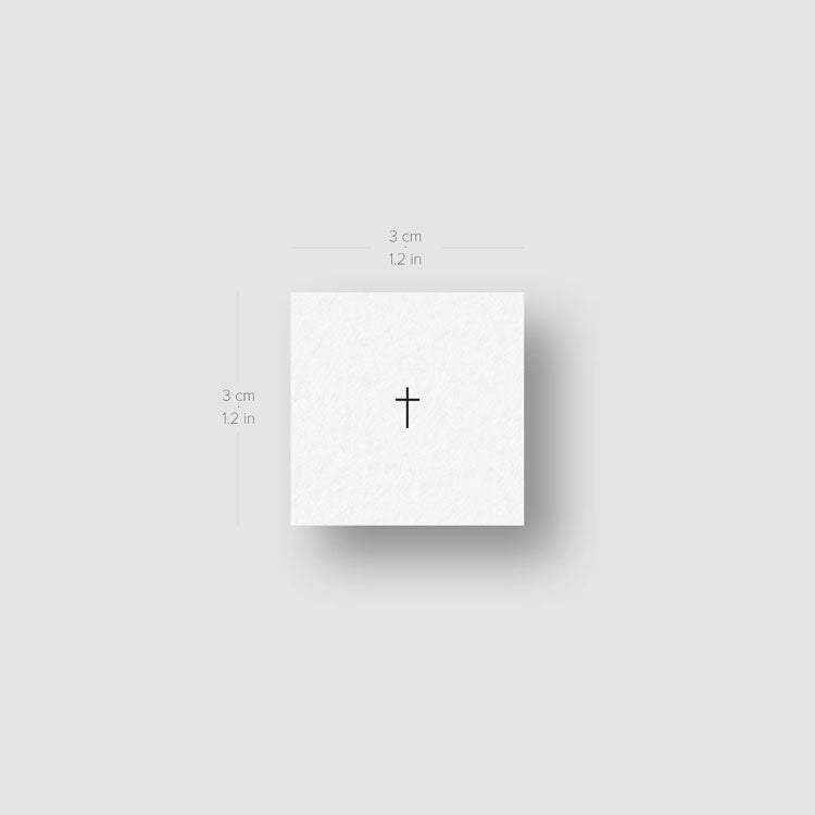 Tiny Minimalist Cross Temporary Tattoo - Set of 3