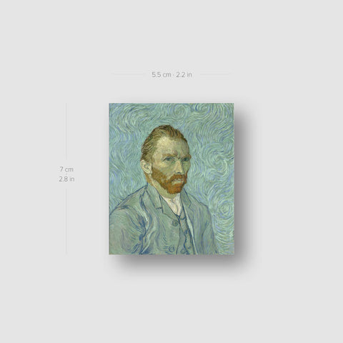 Van Gogh's Self-Portrait Temporary Tattoo - Set of 3