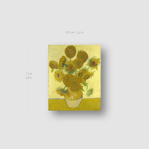 Van Gogh's Sunflowers Temporary Tattoo - Set of 3