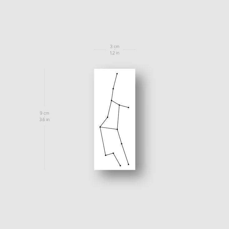 Virgo Constellation Temporary Tattoo - Set of 3