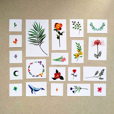 Nature 2 Temporary Tattoo Set by Zihee