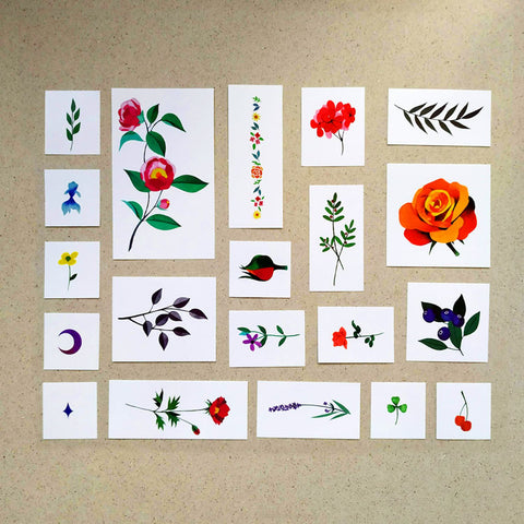 Nature Temporary Tattoo Set by Zihee