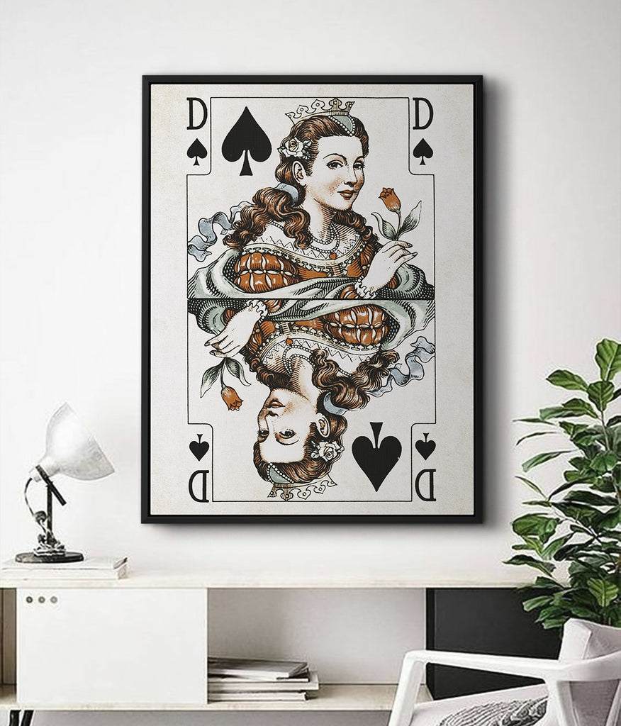 VINTAGE PLAYING CARDS CANVAS WALL ART | iFul