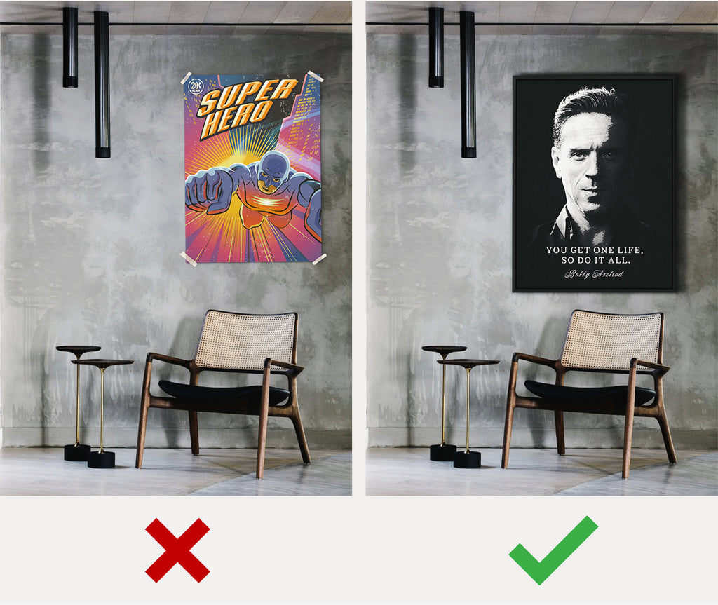 before and after - best art to hang on your wall - iFul