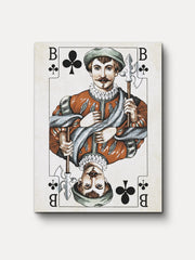 Vintage Playing Cards Jack Clubs Unframed Canvas Wall Art - iFul