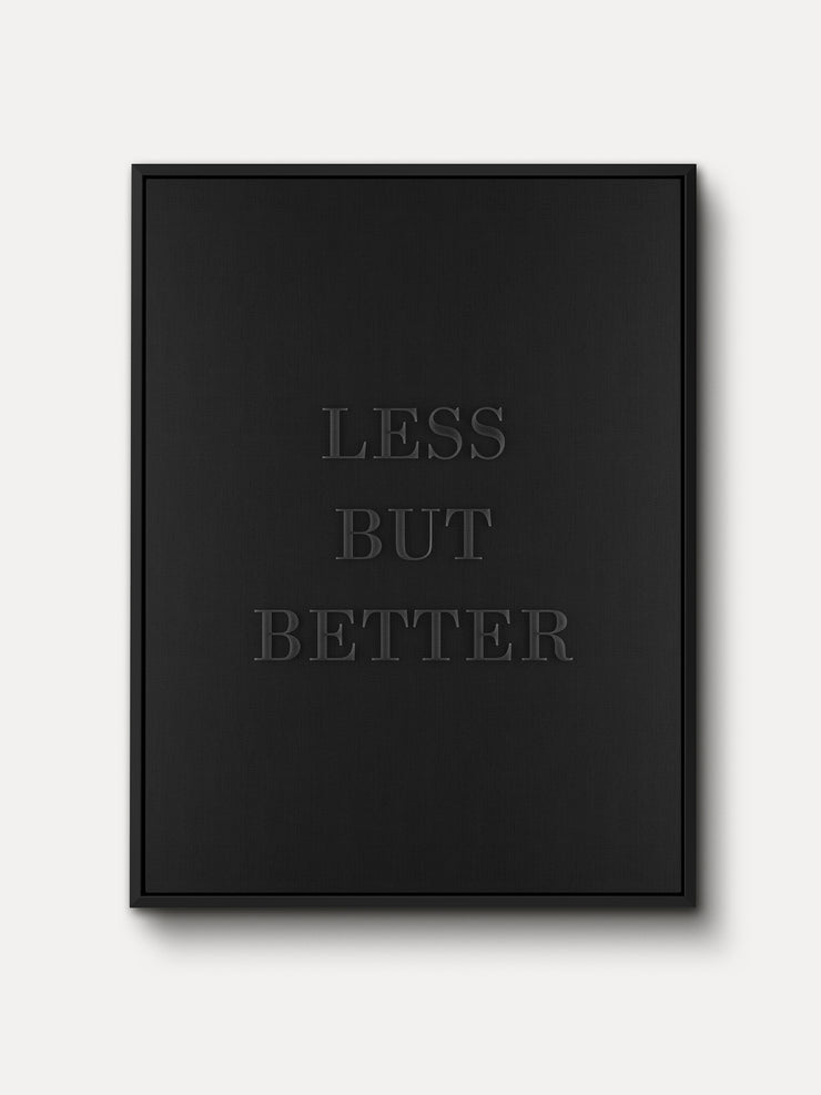 LESS BUT BETTER