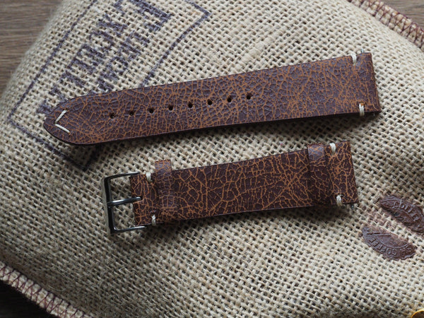 Genuine Italian leather watch strap 22mm