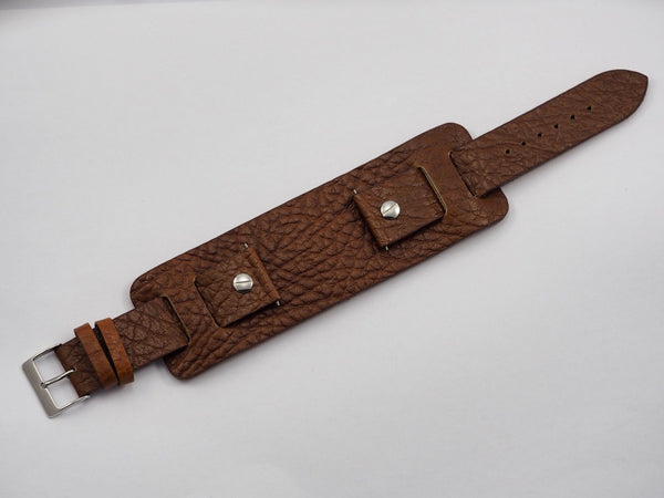 Genuine leather watch strap 22mm