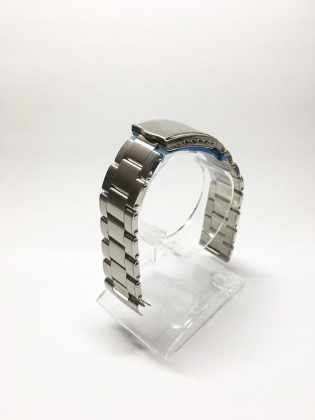 Oyster rivet style stainless steel bracelet 20mm - ALPHA EUROPE