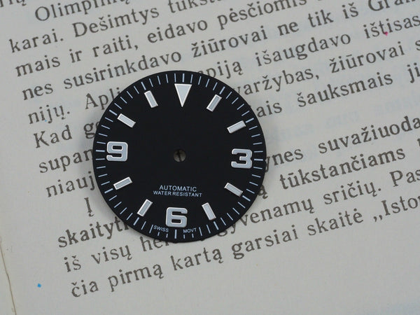 Explorer dial for ETA 2824 movement 29.3mm - ALPHA EUROPE