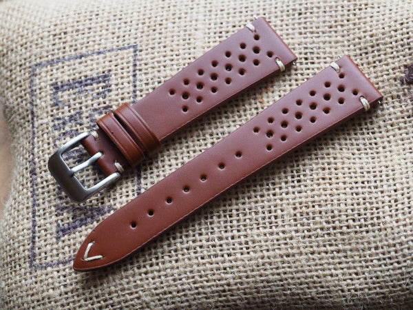 Genuine Italian leather watch strap 20mm - ALPHA EUROPE