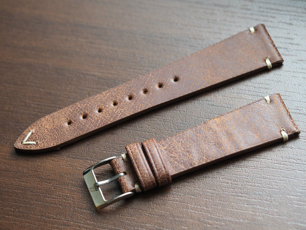 Genuine Italian leather watch strap 20mm