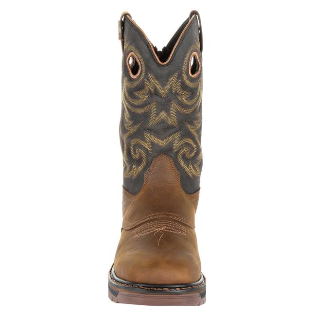 "Georgia Boot 11"" Carbo-Tec LT Pull-On Square Toe Waterproof Boots - Eastern Outfitters"