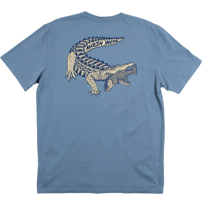 Marsh Wear Clothing Gator and Redfish T-Shirt (Blue) - Eastern Outfitters