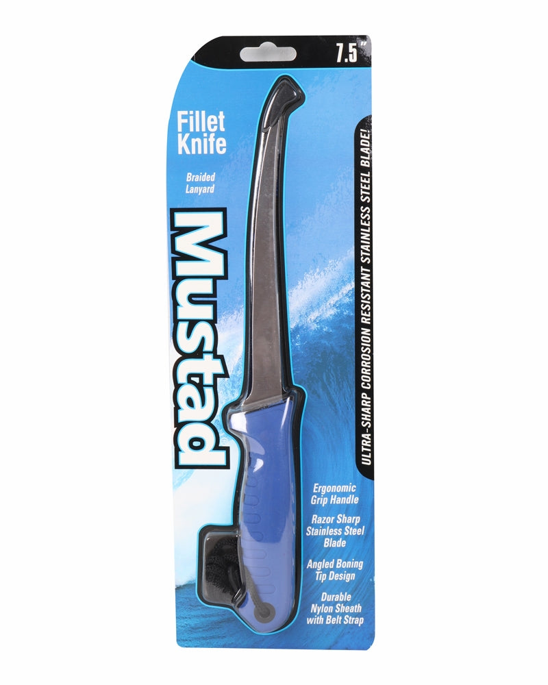 "Mustad 7.5"" Fillet Knife w/ Sheath - Eastern Outfitters"