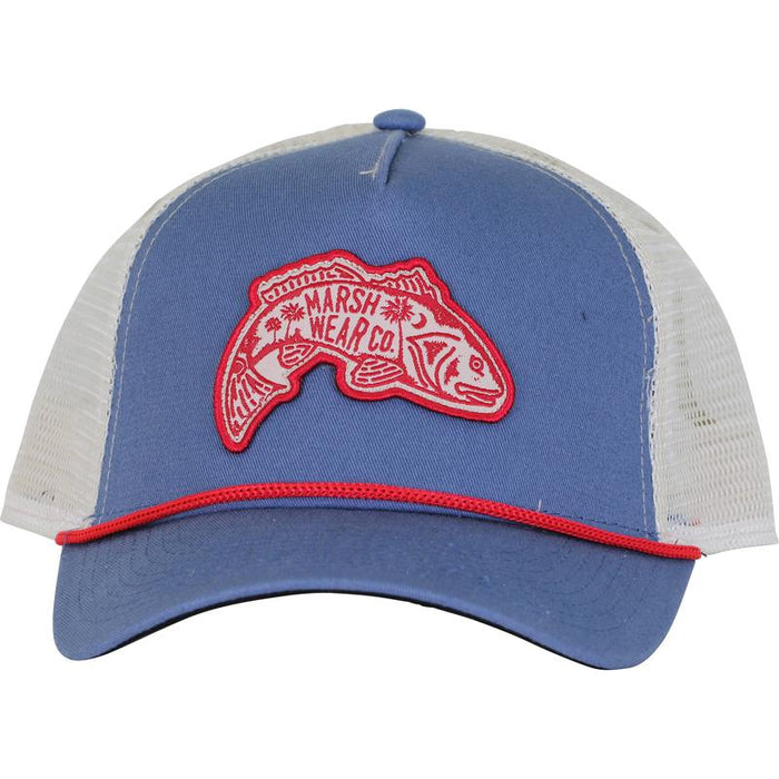 Marsh Wear Clothing Lowcountry Red Trucker (Blue) - Eastern Outfitters