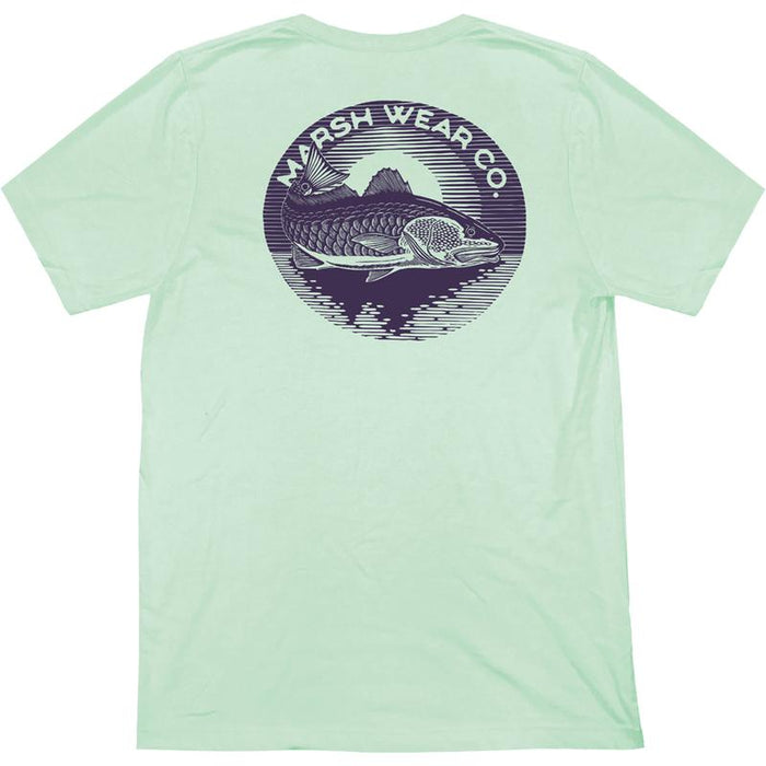 Marsh Wear Clothing Redfish Moon T-Shirt (Mint) - Eastern Outfitters