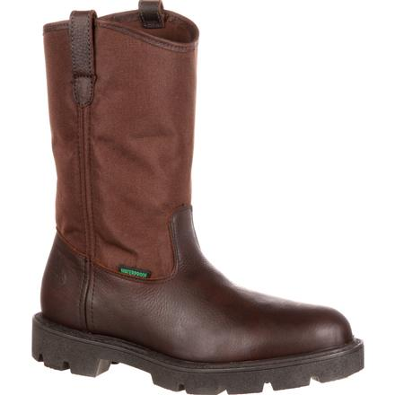 Georgia Homeland Waterproof Wellington Work Boot (Brown) - Eastern Outfitters