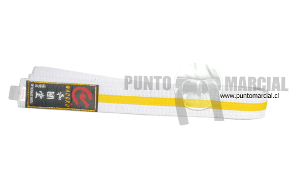 Cinturon Wacoku Color Blanco Amarillo 3 mts