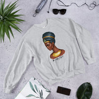 Nefertiti Drip - B is for Black Girl Women's Crew