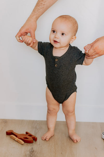 Ribbed Short Sleeve Onesie