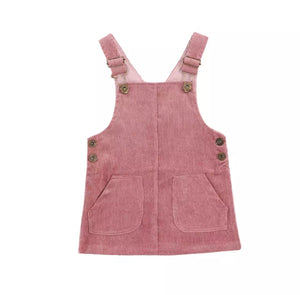 The Nora Overall Dress/ Lilac
