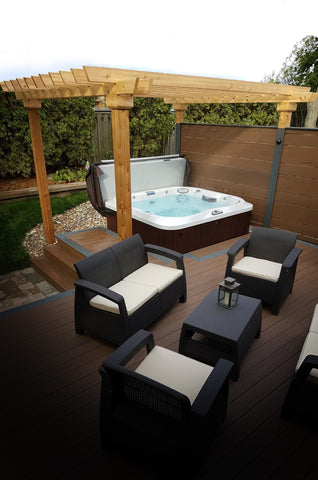 Hot tub electrical installation guidelines outdoor living hot tub installation on decking asfbconference2016 Images