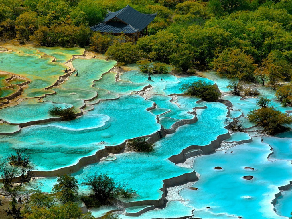 Huanglong Volcanic Springs, Yellow Dragon Mountain, China