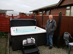Hot Tub Installation for Robert and Wendy Rutherford