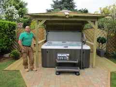 Hot Tub Installation for Stuart Lawrence