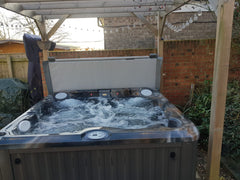 Hot Tub on decking in garden