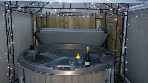 Hot Tub prepared for a party
