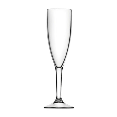 Champagne Glass (Clear) - Plastic & Dishwasher Safe