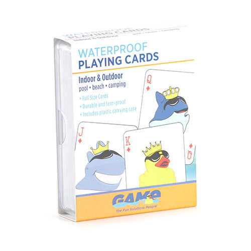 Childrens Hot Tub Waterproof Plastic Playing Cards