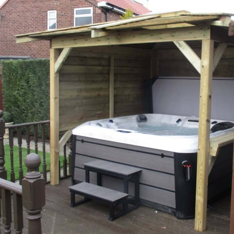 Outdoor Look Hot Tub with Gazebo package