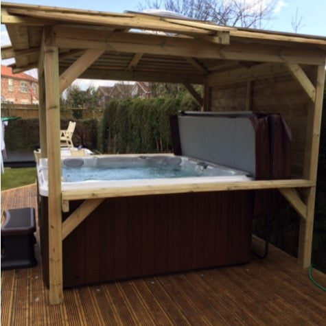 jacuzzi j hot tub with gazebo package