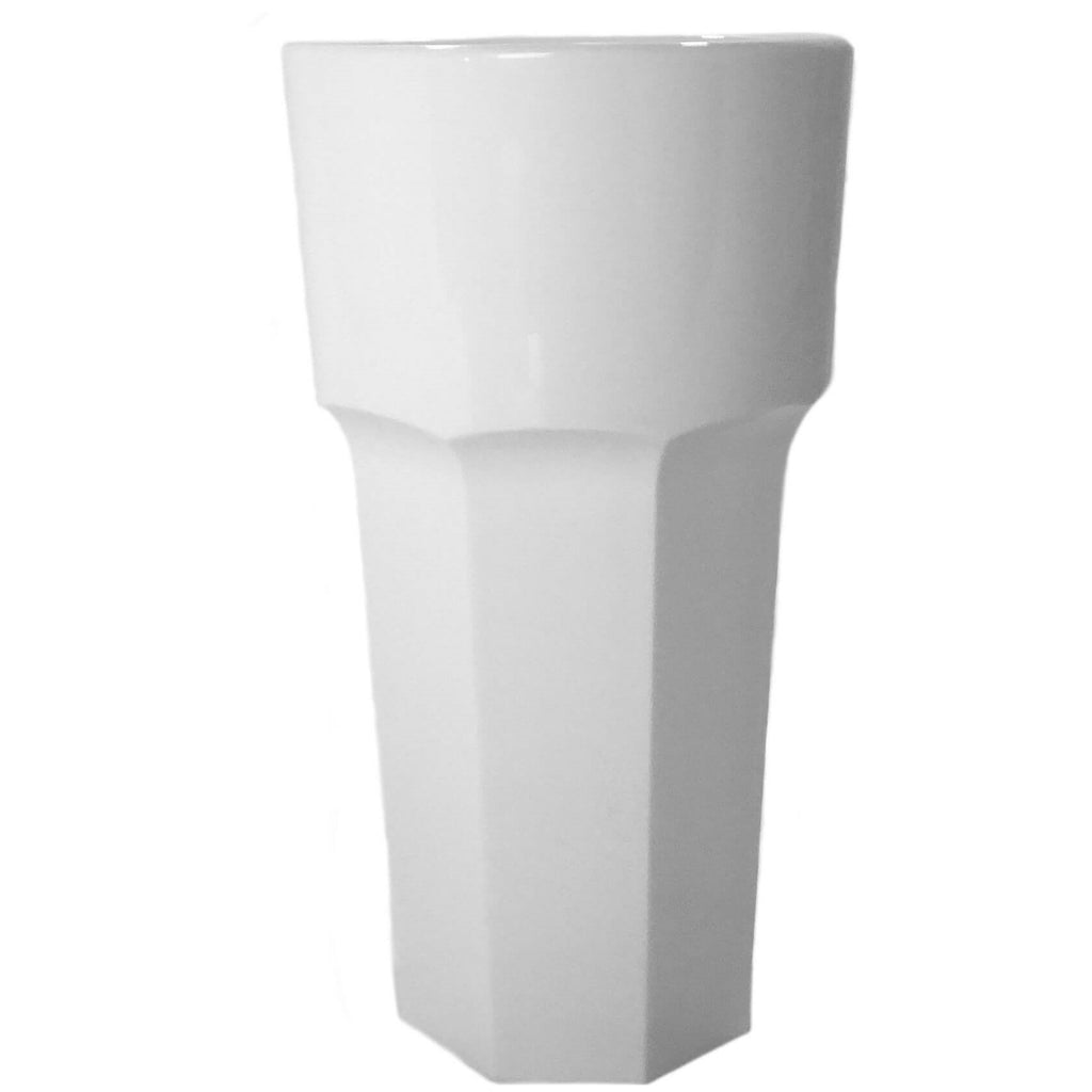 Large Drink Tumbler (White) - Plastic & Dishwasher Safe