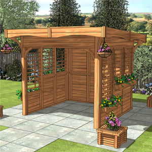 CedarLodge Square Monopitch Gazebo | Selection B