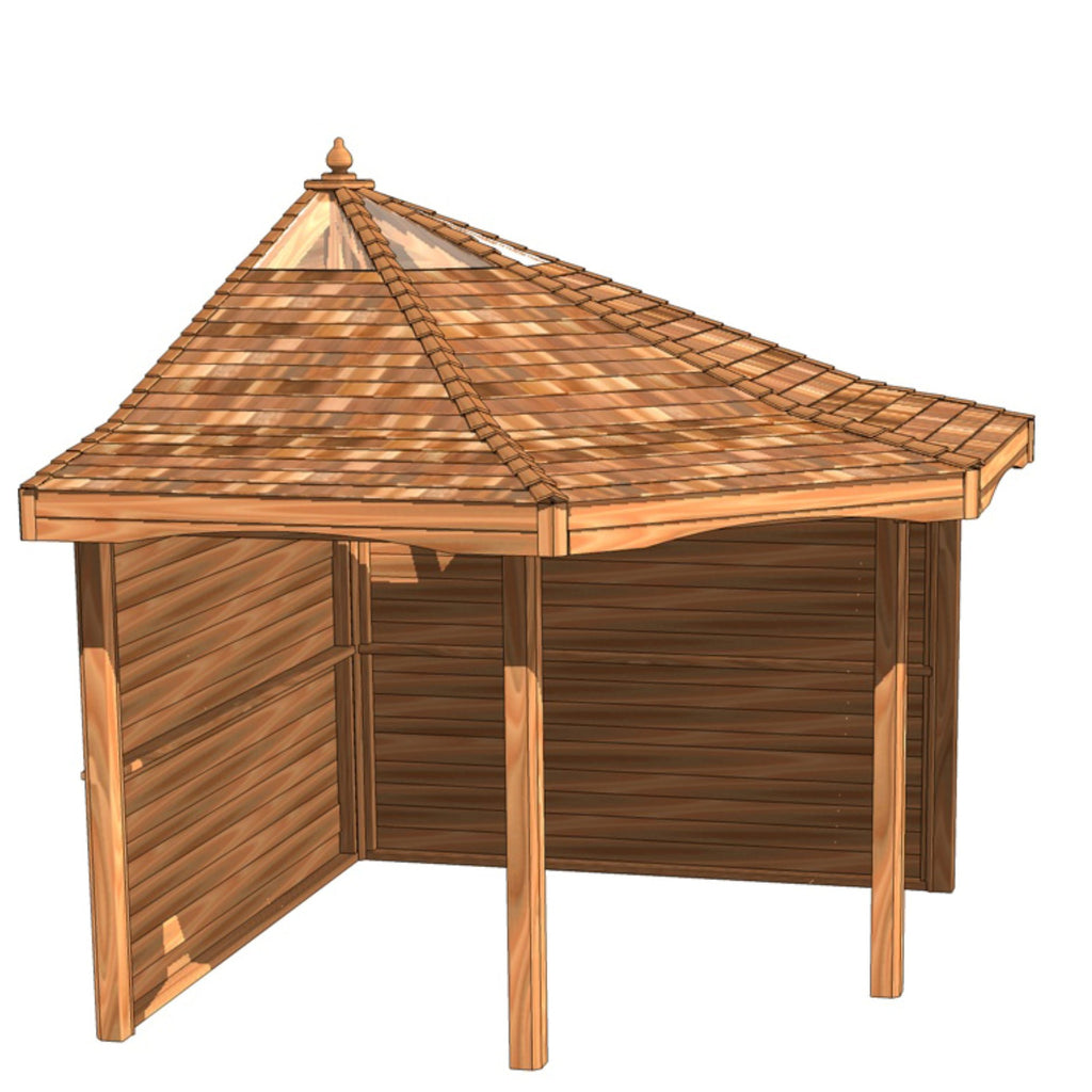 CedarLodge Quarter Gazebo | Selection B