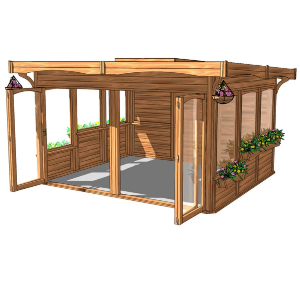 CedarLodge Rectangular Monopitch Gazebo | Selection D