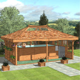CedarLodge Rectangular Gazebo | Selection B