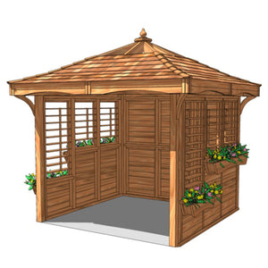 CedarLodge Square Gazebo | Selection B