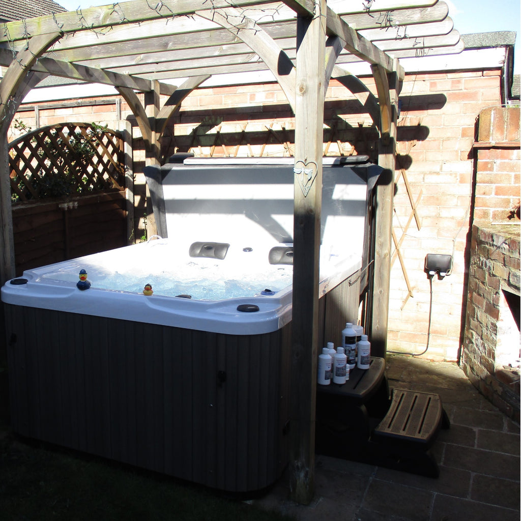 buy the outdoor fun hot tub from outdoor living. Black Bedroom Furniture Sets. Home Design Ideas