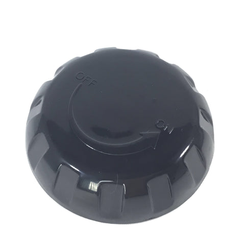 Arctic Spa Air Control Cap (Black Round). Part No. JET-109243