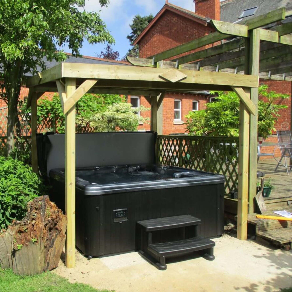 Outdoor Haze Hot Tub with Gazebo Package