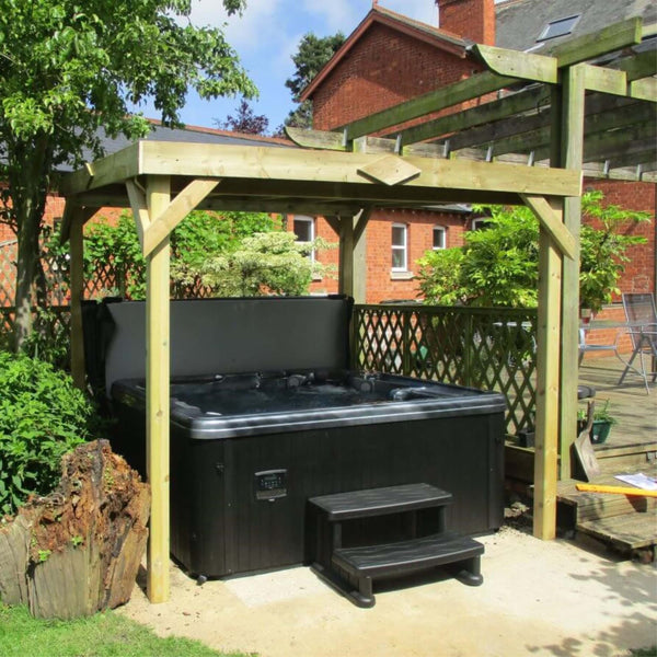 hot tub with gazebo package