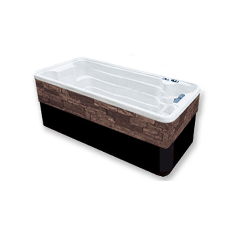 Tidalfit EP12 Swim Spa from Outdoor Living - white, partial submerge