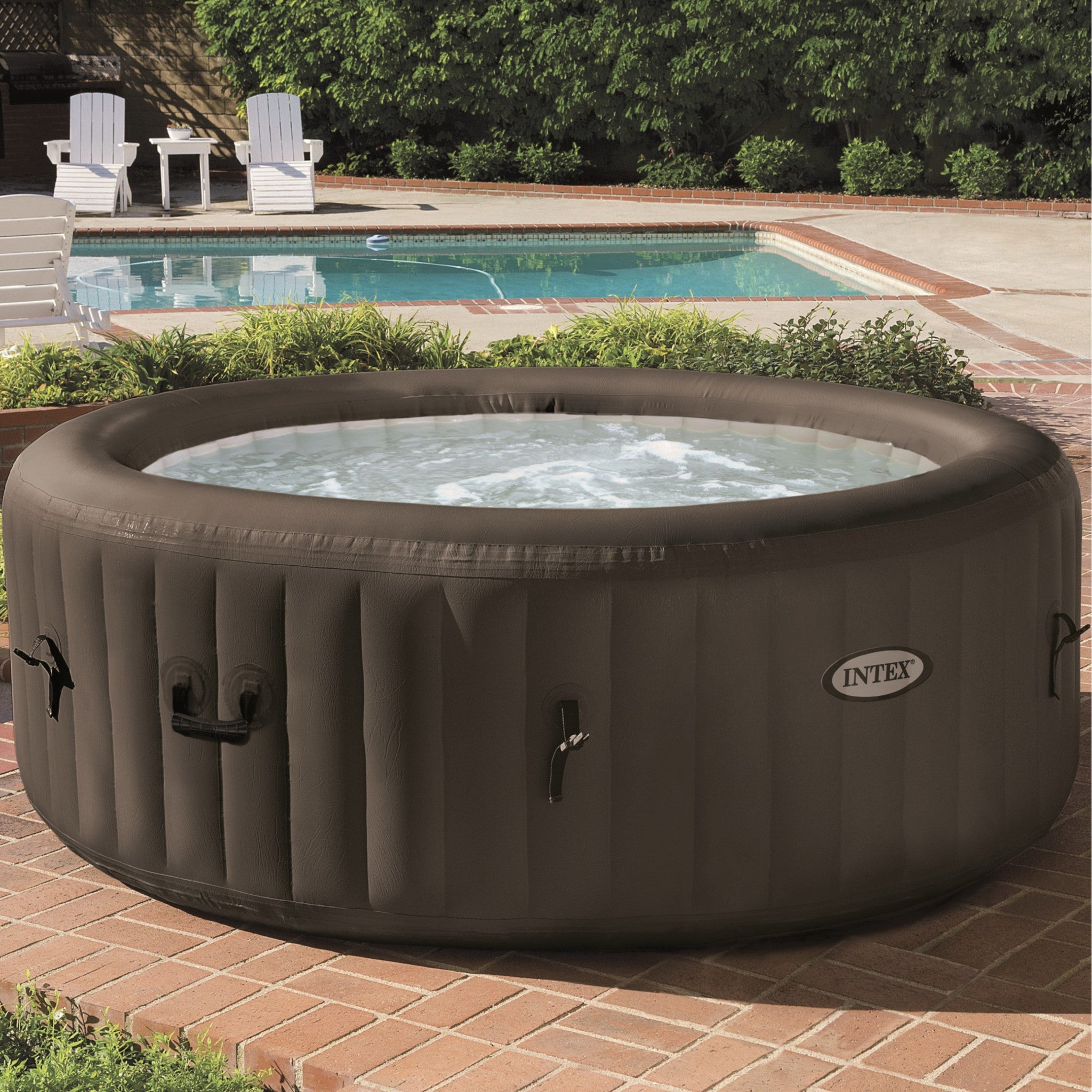 intex purespa jet massage inflatable hot tub. Black Bedroom Furniture Sets. Home Design Ideas