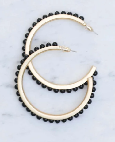 Black Winstead Hoops